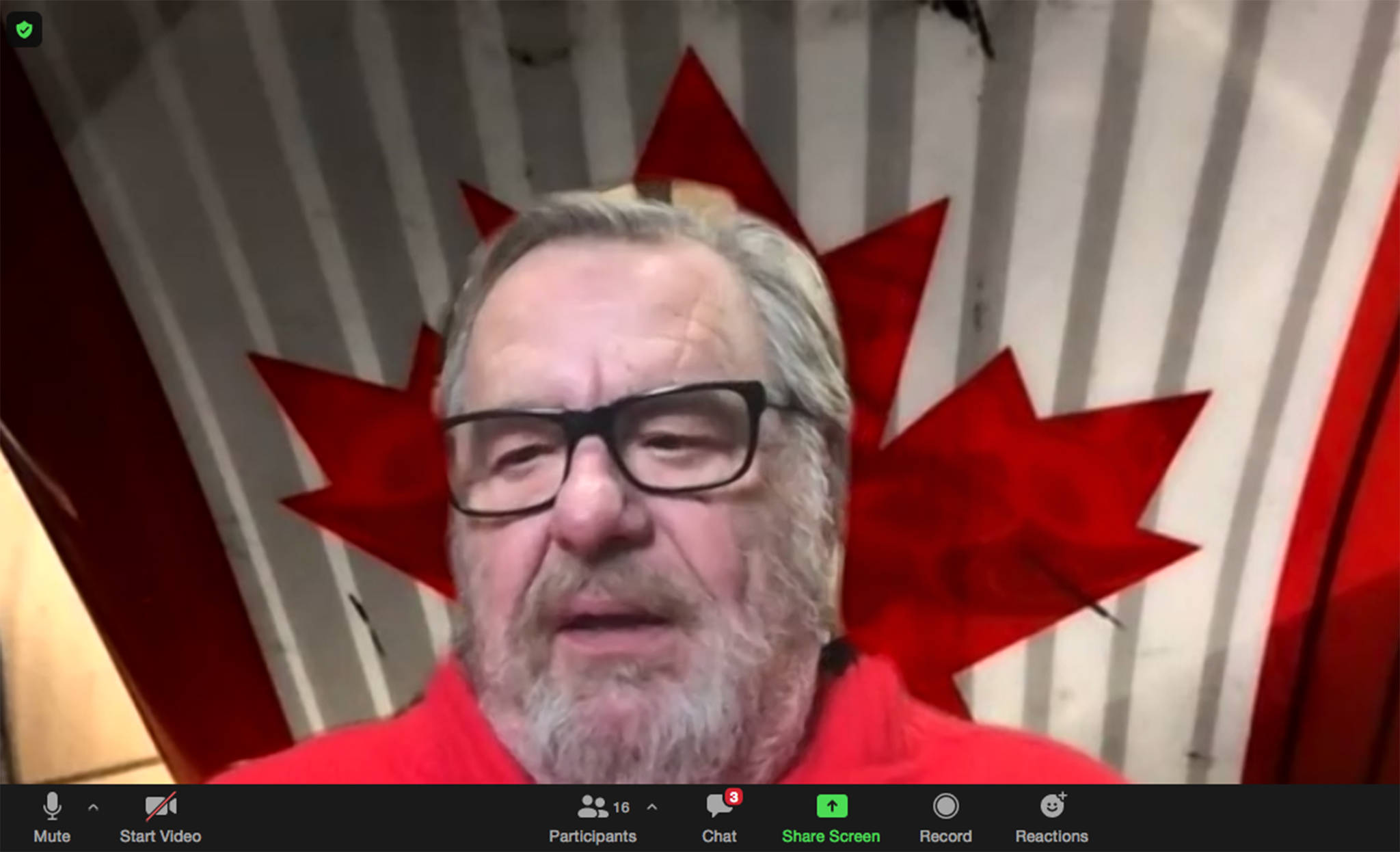 ACC President and CEO Ken Kolby spoke to Ponoka Chamber of Commerce members over Zoom on Oct. 20. (Image: screenshot)